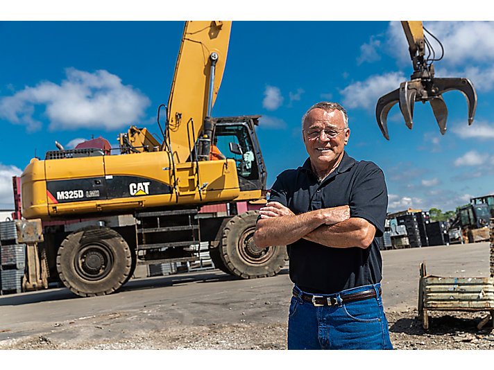 Army veteran and Cat customer Mike Hitchcock Sr. is proud of the company he has built over more than 40 years.