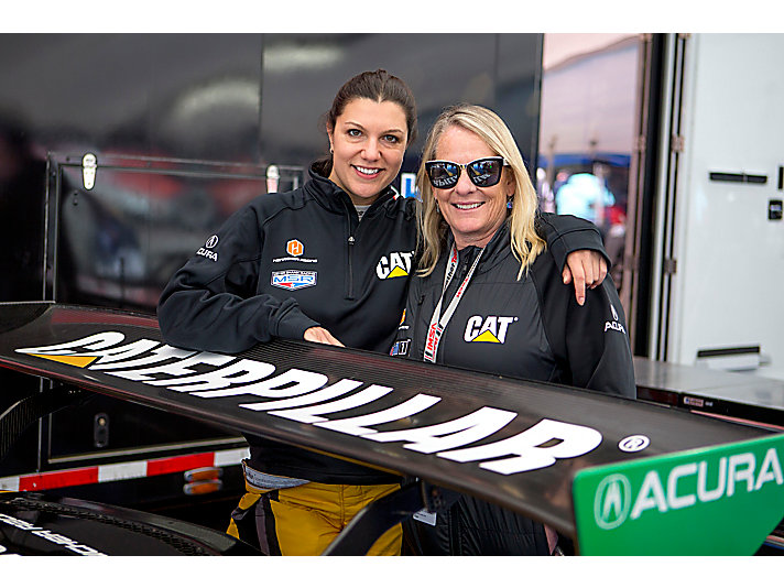 Air Force veteran and Cat Racing principal/driver Jackie Heinricher and driver Katherine Legge taking a moment before another big race!