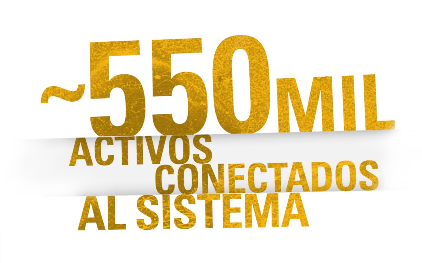 ~550 MIL ACTIVOS CONECTADOS AL SISTEMA