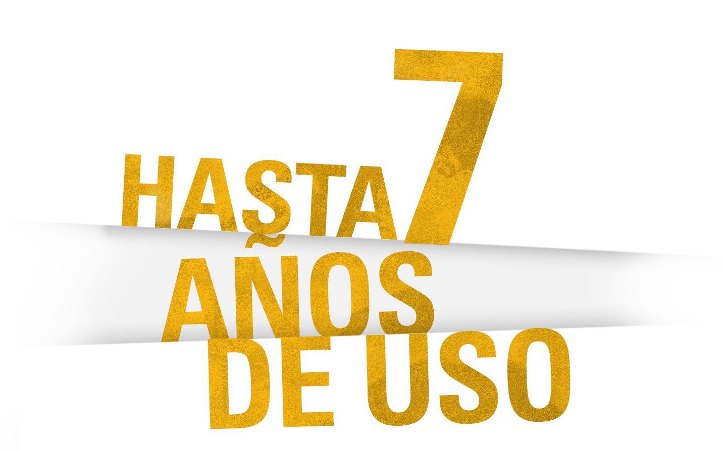 HASTA 7 AÑOS DE ANTIGÜEDAD
