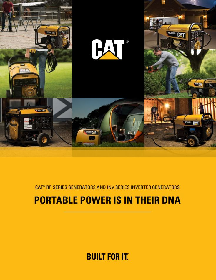 Cat Home and Outdoor Power Product Line Brochure