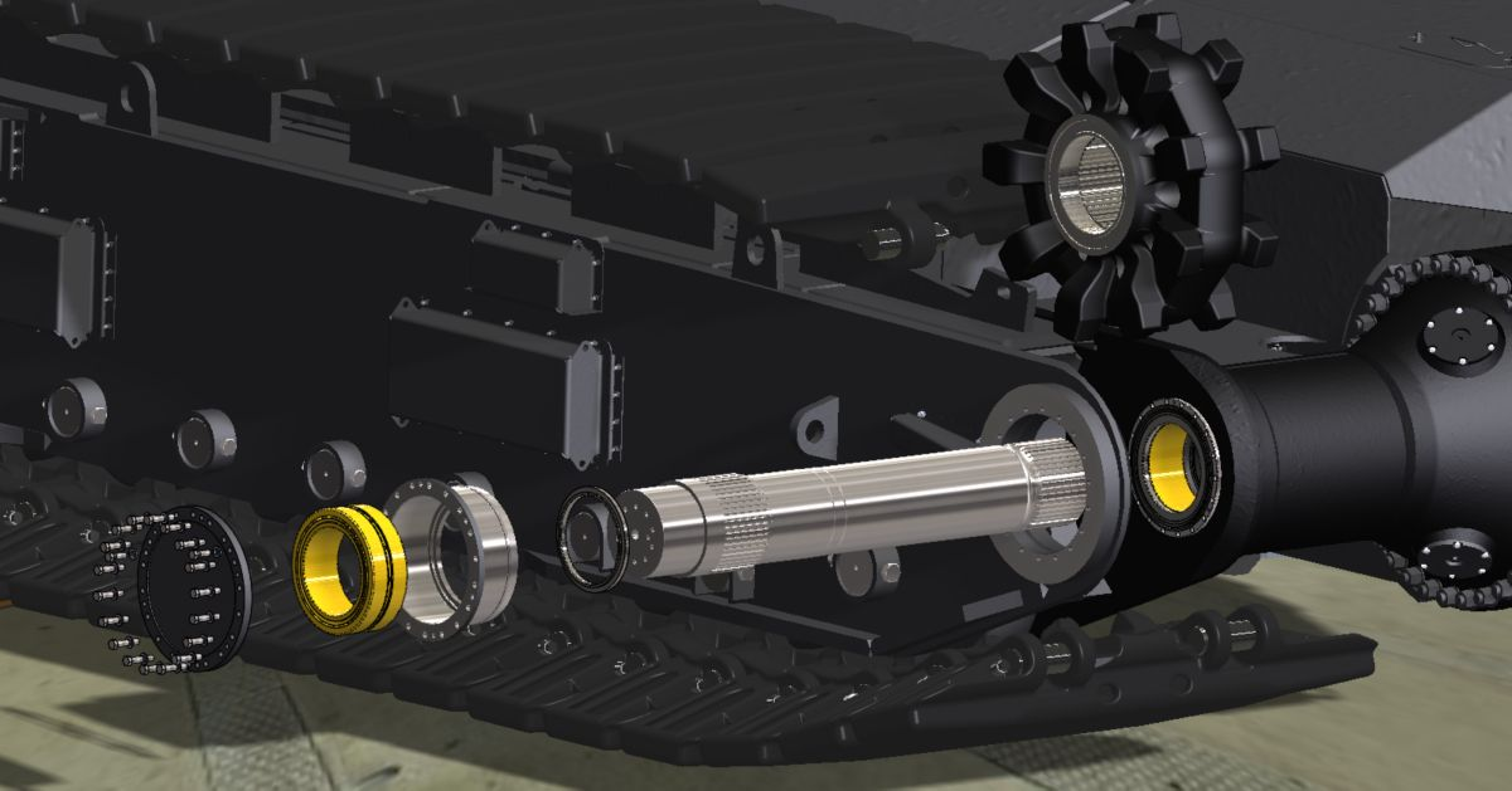 Cat shovel propel upgrade components