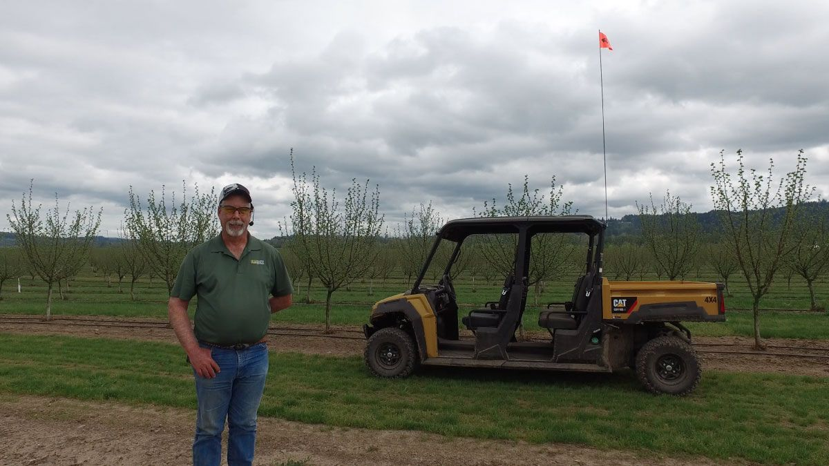 AgriCare uses the Cat UTV to haul crew members and supplies around the farmland it manages.