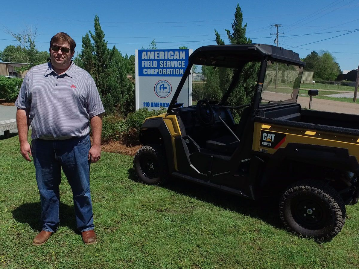 American Field Service loves the quietness and spaciousness of the 5-seat Cat UTV.