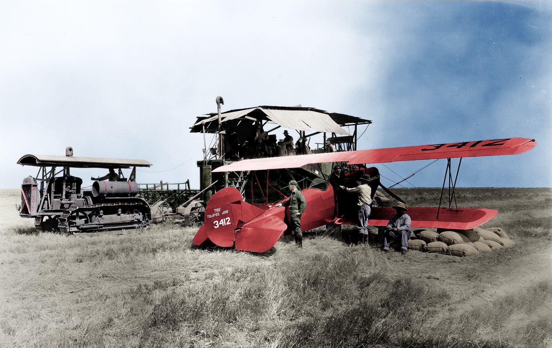 Cat® dealer Cousins delivering parts by plane in 1928.