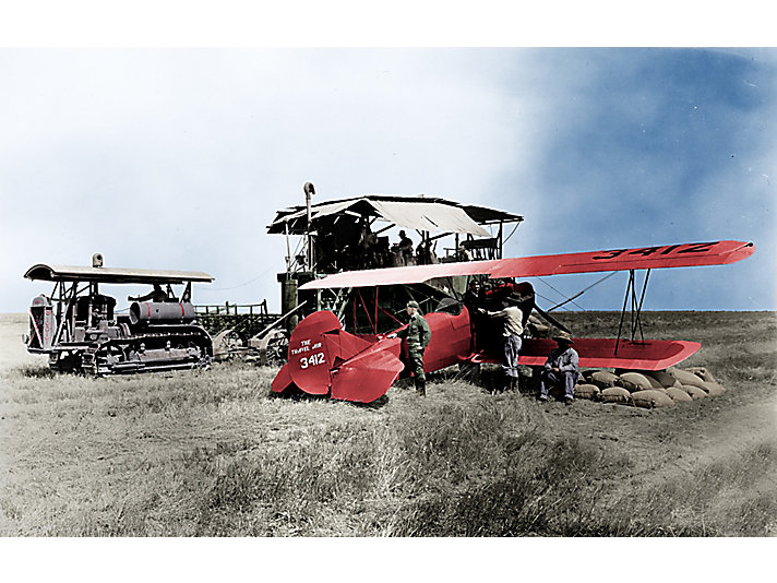 Cat® dealer Cousins delivering parts by plane in 1928.