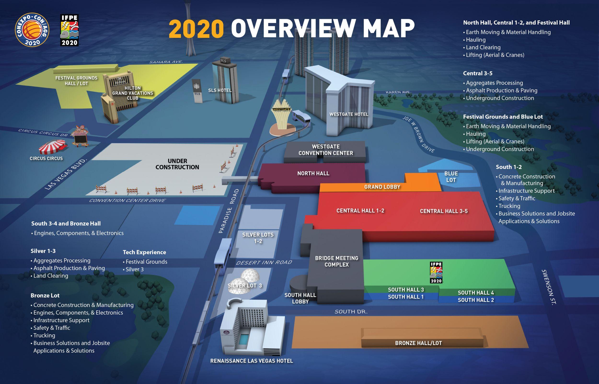ConExpo 2020 Event Map