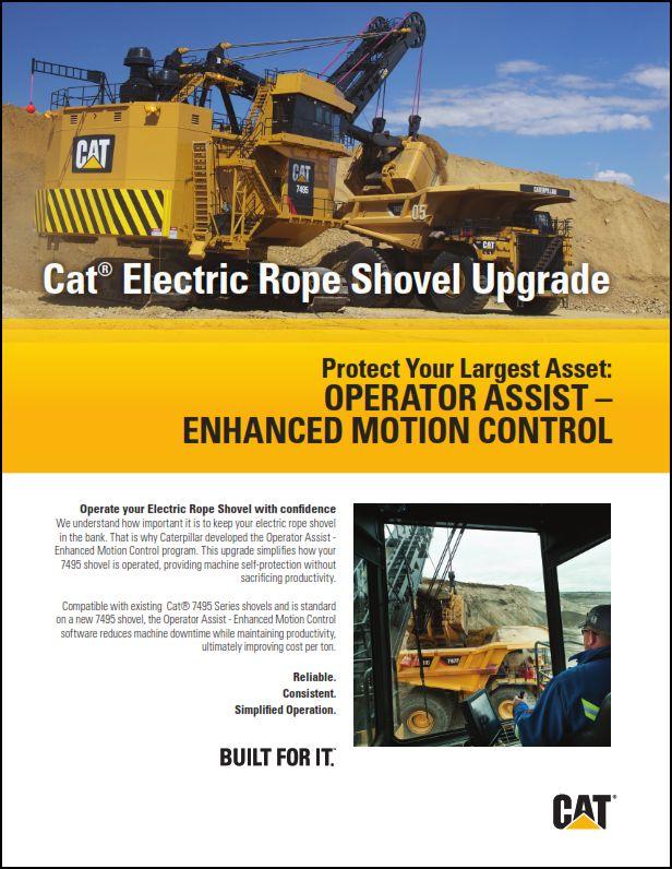 Cat® 7495 Electric Rope Shovel - Operator Assist - Enhanced Motion Control Brochure