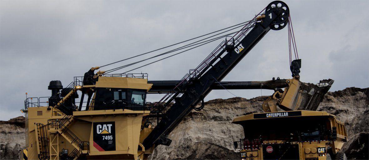 Cat® 7495 Electric Rope Shovels Help Oil Sands Customers Surpass Production Goals