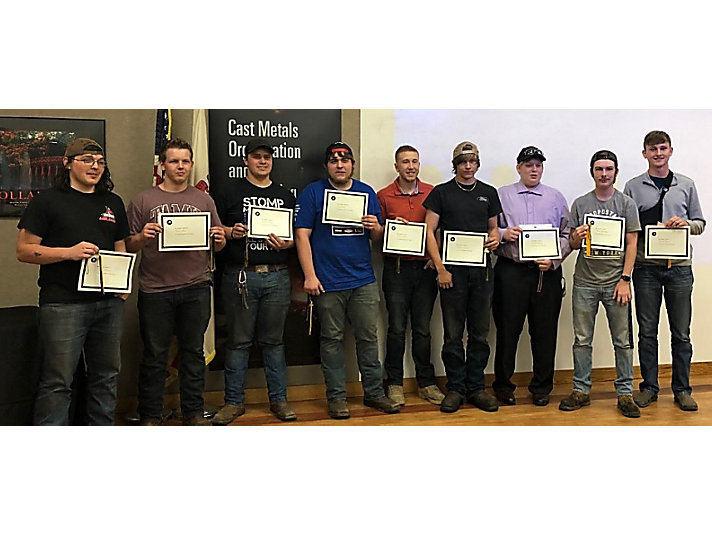 Nine of the graduates from the E4 Life Program class