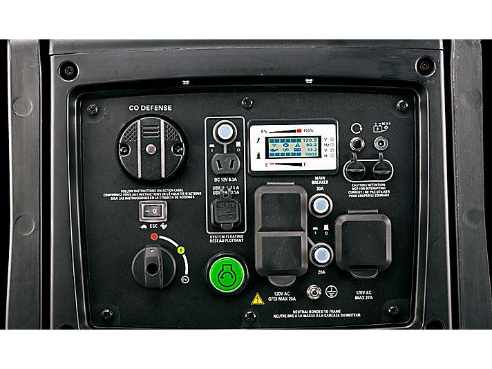 INV4000 E Control panel close-up
