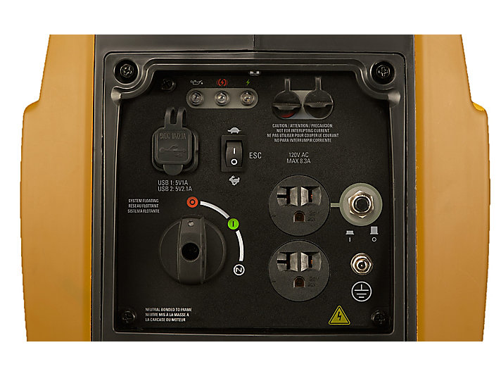 INV1250 Control panel close-up