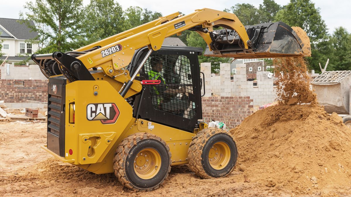 The new industrial performance buckets with 30% more loading capacity are available in the new Cat D3 Series Skid Steer Loaders and Compact Track Loaders.