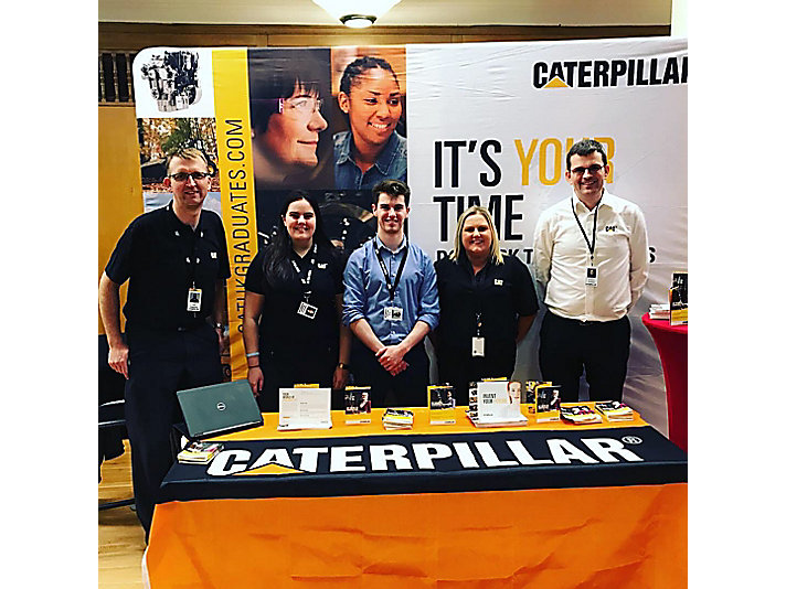 Some of our Caterpillar NI employees at a university career fair