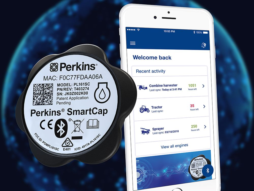 Perkins® SmartCap and Perkins® My Engine App