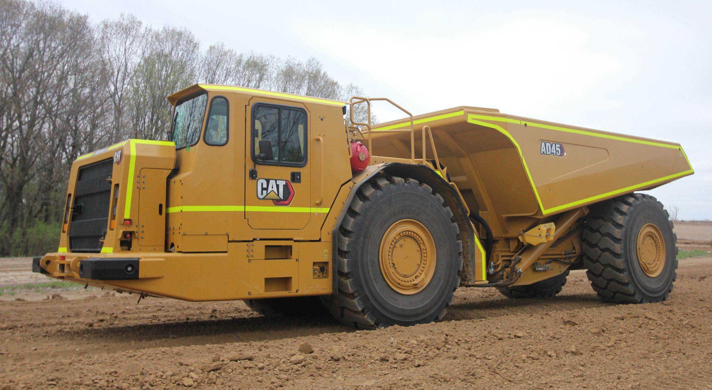 Cat AD45 Underground Truck on surface