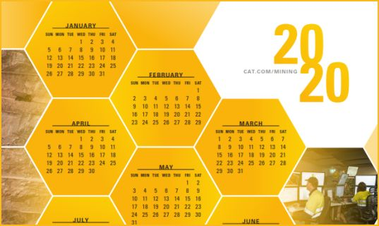 2020 Caterpillar Global Mining Calendar