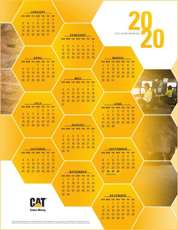 2020 Caterpillar Global Mining Calendar