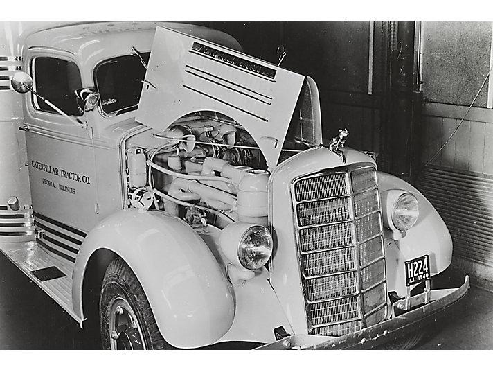 Caterpillar D468 Truck Engine, ca. 1940.