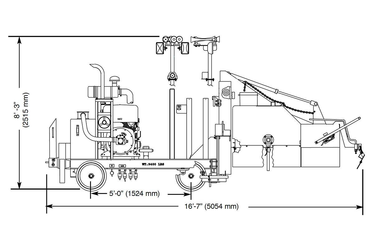 Kershaw® 35-13 Tie Plate Sweeper