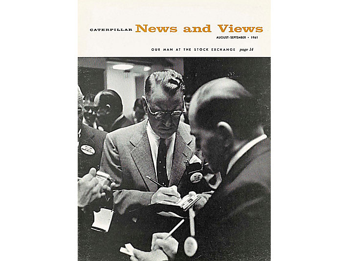 Caterpillar employee publication called News and Views documenting the sale of our stock on the NYSE in 1961.
