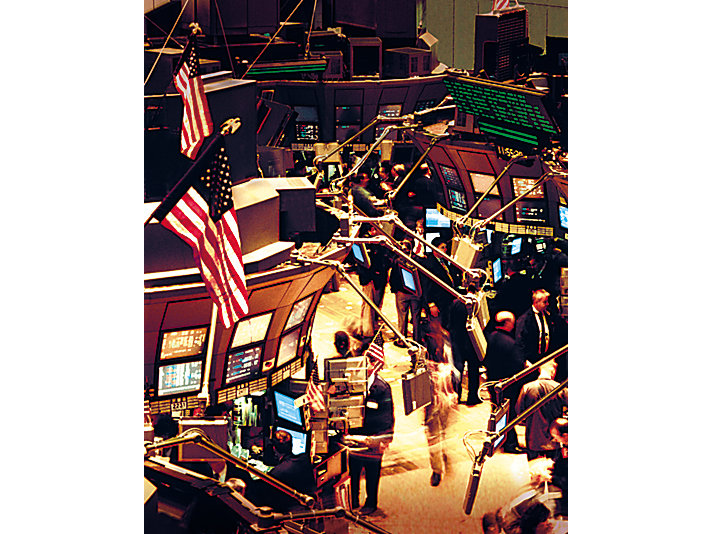 Trading floor of the NYSE in 2000.