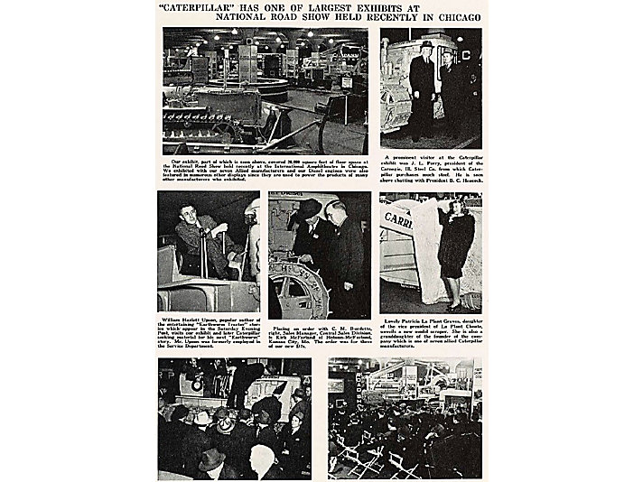 Article on the 1940 Road Show that appeared in Caterpillar's employee publication News & Views.