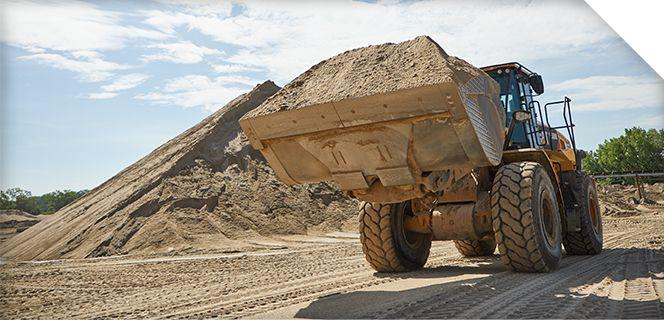 Wheel Loader Moving Dirt