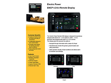 EMCP 4.3/4.4 Remote Display