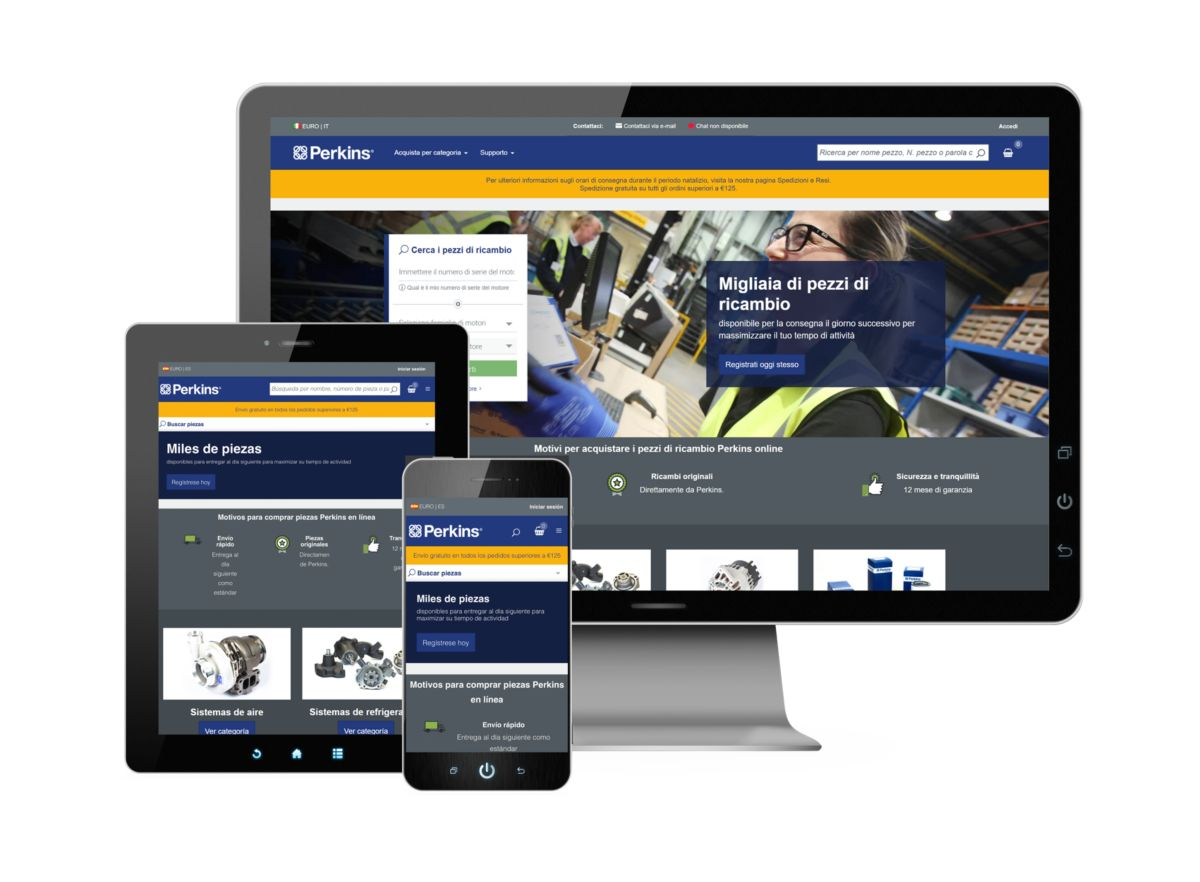 Perkins opens seven new online parts shops across Europe