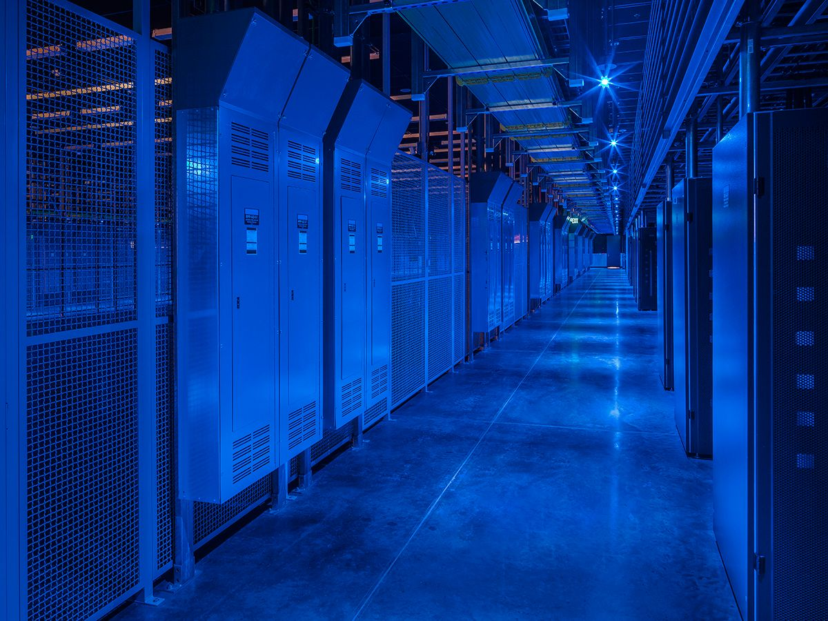Figure 2: A co-location data center customer server space includes redundant uninterruptible power supply electrical distribution.