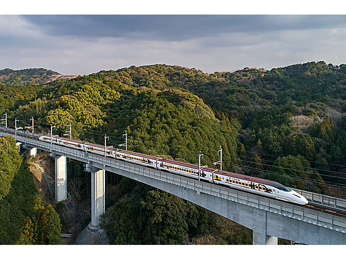 Japan train in countryside