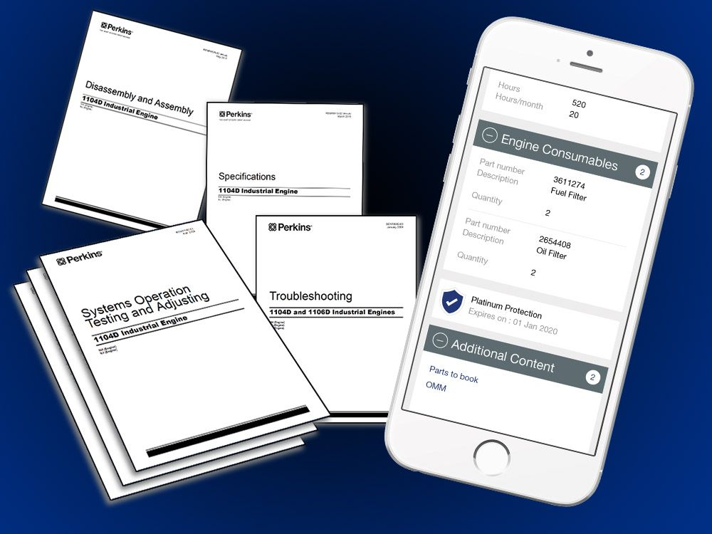 Perkins® My Engine App: manuals and tutorials now at your fingertips