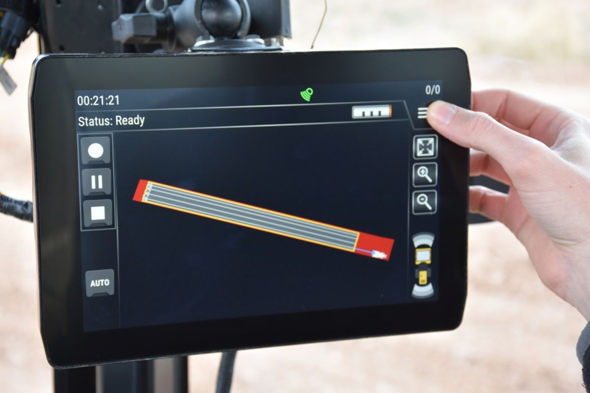 Cat COMMAND for Compaction touch screen interface