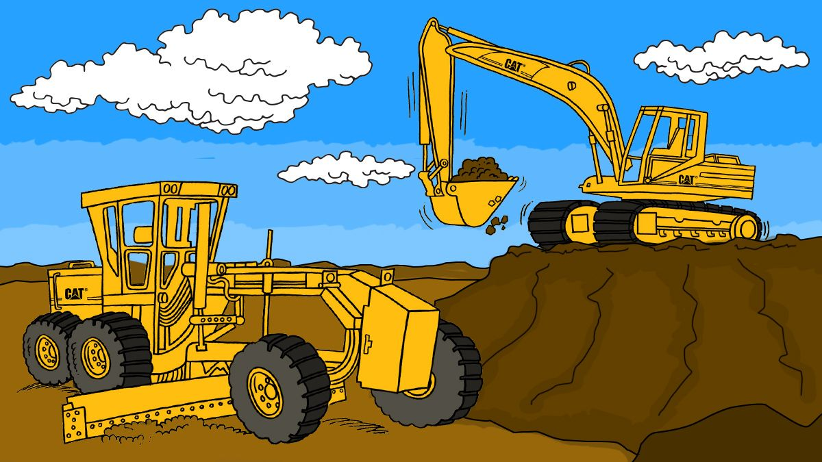 Free Cat-Machine and Product Coloring Pages for Download