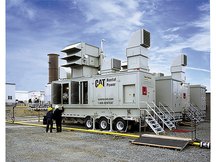 Caterpillar gensets working to provide power during a crisis-level shortage in Brazil, 2001.
