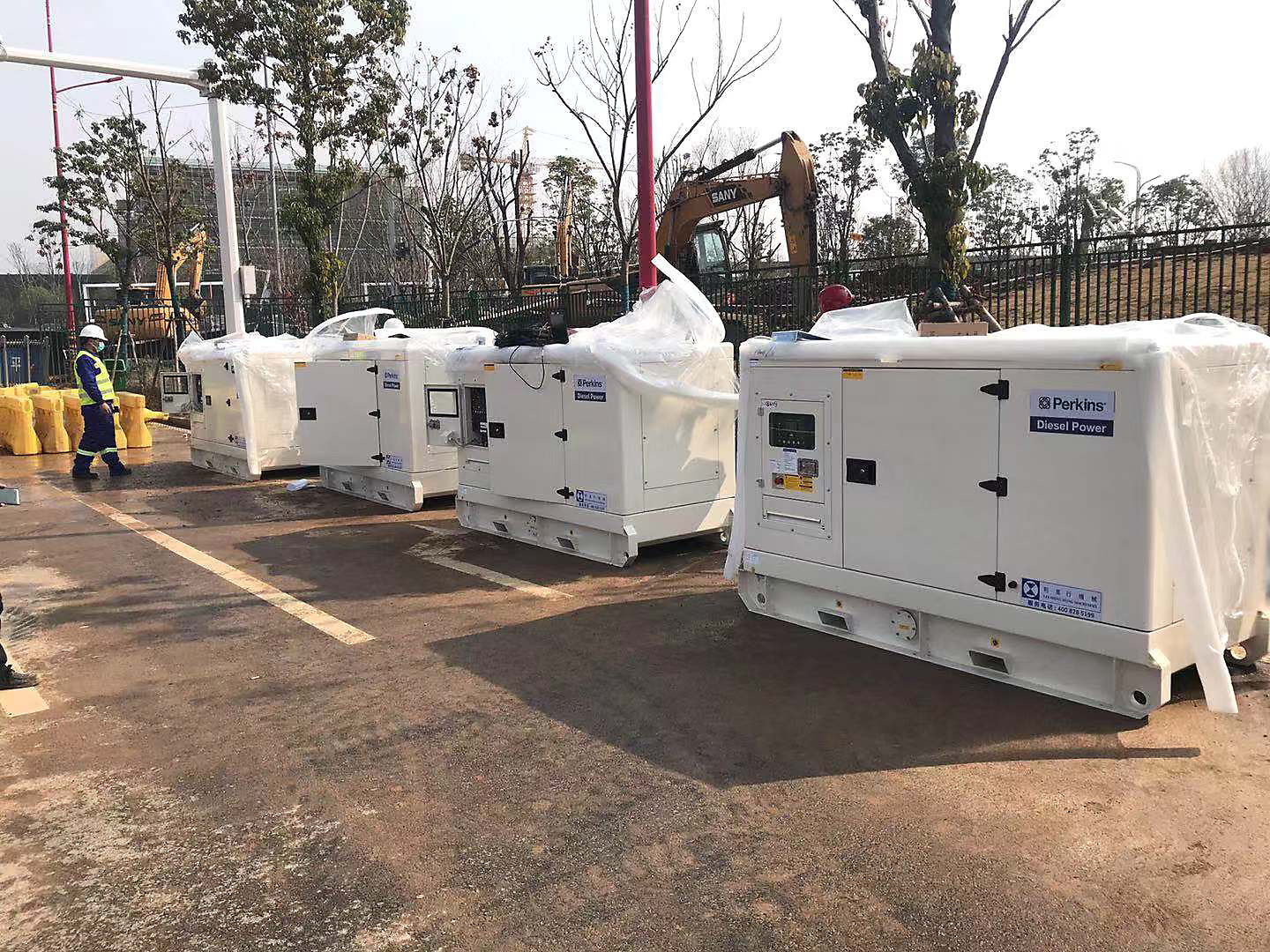 Lei Shing Hong Machinery donated four Perkins-powered generator sets