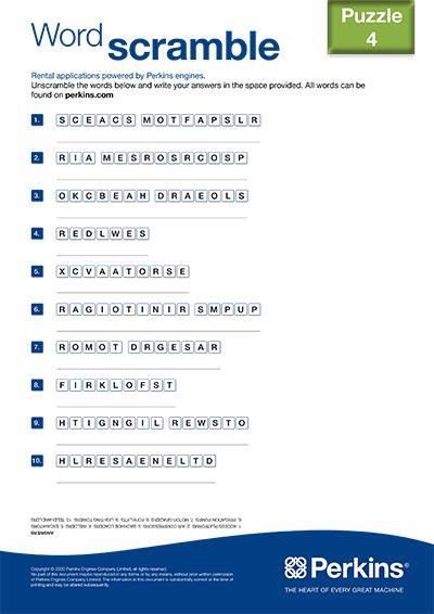 Word scramble 4