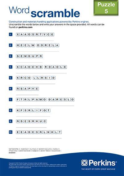 Word scramble 5
