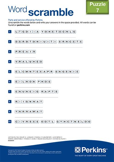 Word scramble 7