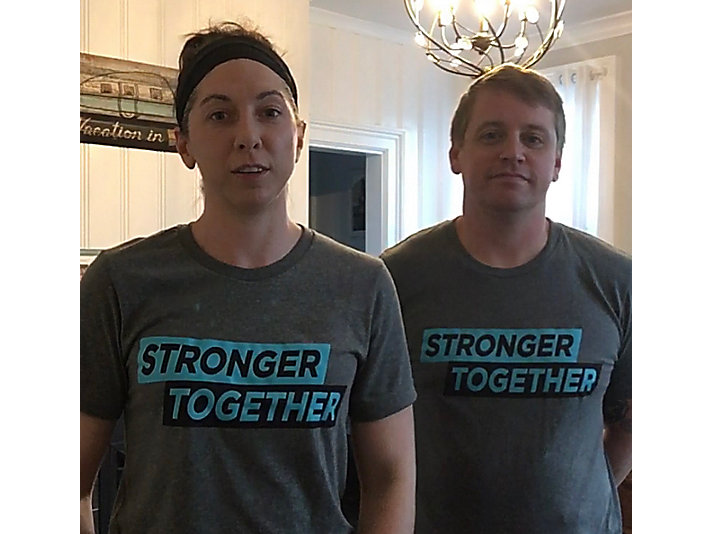 Kelli Vandeschraaf joined fellow gym members to sell t-shirts to support a local gym. They worked with a local business to make the shirts – supporting two Peoria-area businesses.
