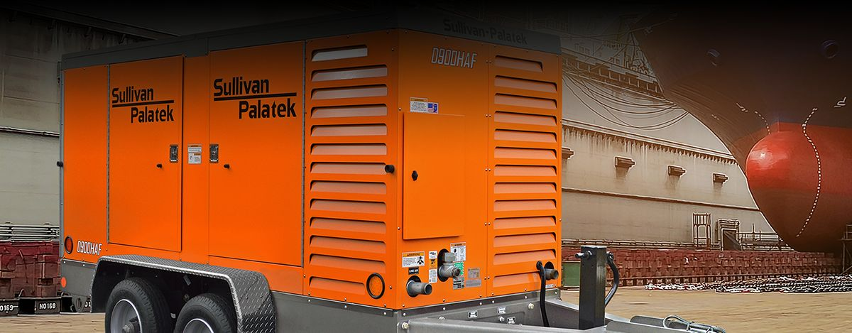 Sullivan-Palatek D900HAF Compressor - Cat® C7.1 Engine