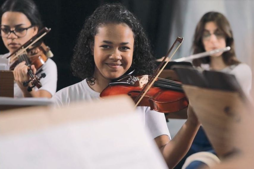 Diana playing Violin