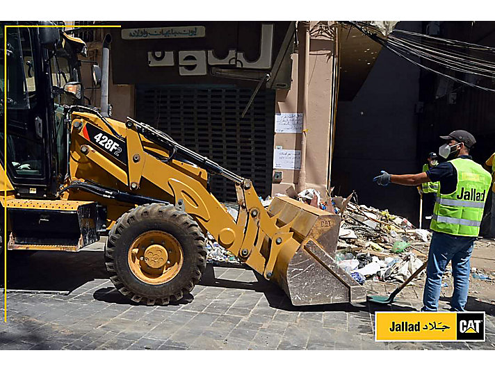 Cat®  machines are assisting in efforts to prepare relief supplies for shipment to Lebanon