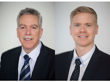 Americas sales director Bill Giunta (left) and EAME sales director, Richard Hemmings.