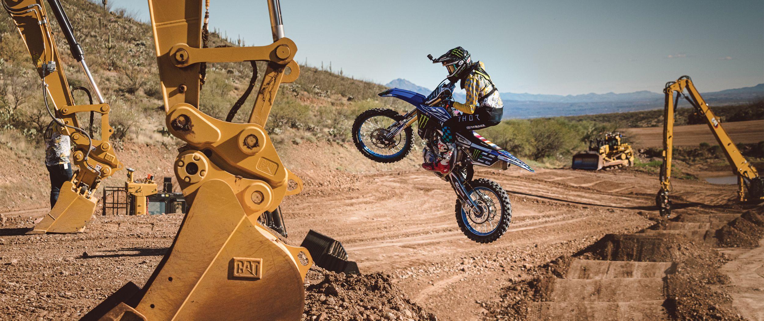 Motocross and Cat® Equipment