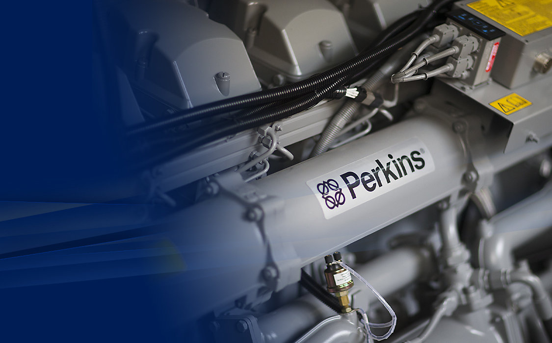 Engine with Perkins logo