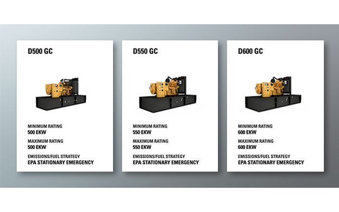 CAT GC MODELS AND TECHNICAL INFORMATION