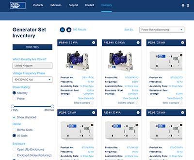 diesel generator for sale inventory