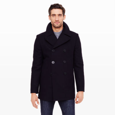Mens Slim Pea Coat Small - Tradingbasis